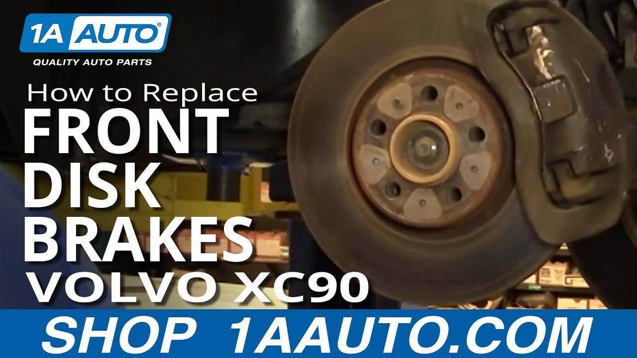 how to install replace front disc brakes volvo xc90 1aauto. Black Bedroom Furniture Sets. Home Design Ideas