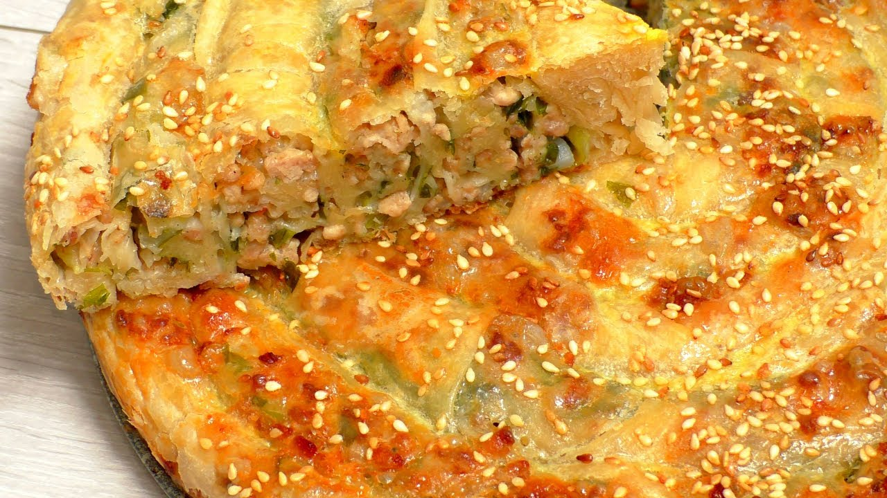 Рецепт бурека с мясом