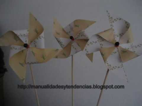 Día de la madre: cómo hacer un molinillo de viento / Mother's day. How to make a windmill