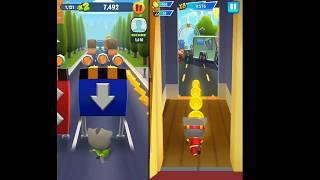 Talking Tom Gold Run Vs Talking Tom Hero Dash Kids Game   Andorid Gameplay #2