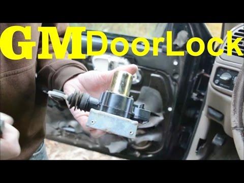 How to Replace Door Lock Actuator & Remove Door Panel    Escalade Tahoe Suburban Avalanche Yukon
