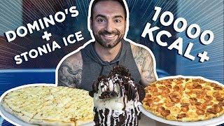 10.000 Calorie cheat day! Domino's pizza + Ice cream