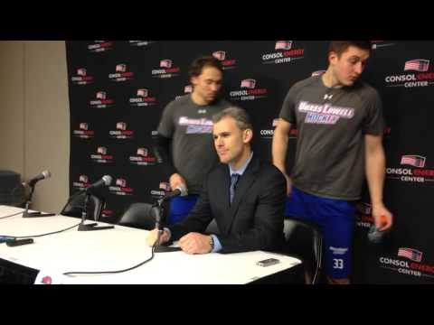 UMass Lowell Hockey Post-Game Press Conference (12/28/15)