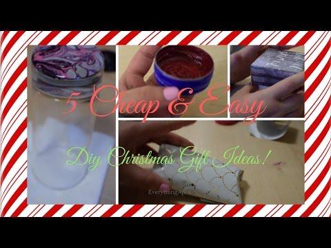 5 Cheap & Easy DIY Christmas Gift Ideas! | EverythingApril