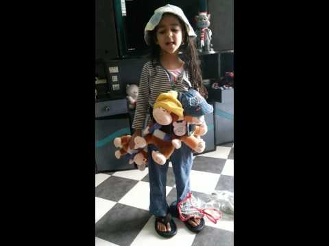 5 Yr Old Girl Telling Story Of Cap Seller & Monkey video