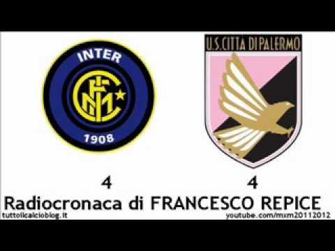INTER-PALERMO 4-4 – Radiocronaca di Francesco Repice (1/2/2012) da Radiouno RAI