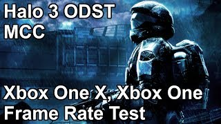 Halo 3 ODST Xbox One X vs Xbox One Frame Rate Comparison (Master Chief Collection)