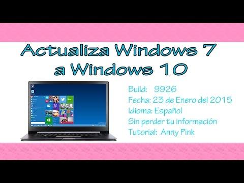 Actualizar Windows 7 a Windows 10 sin perder información