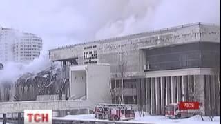 У Москві вщент вигоріла будівля бібліотеки Інституту наукової інформації із суспільних наук - : 0:44
