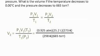 Pressure, Volume and Temperature Relationships - Chemistry Tutorial