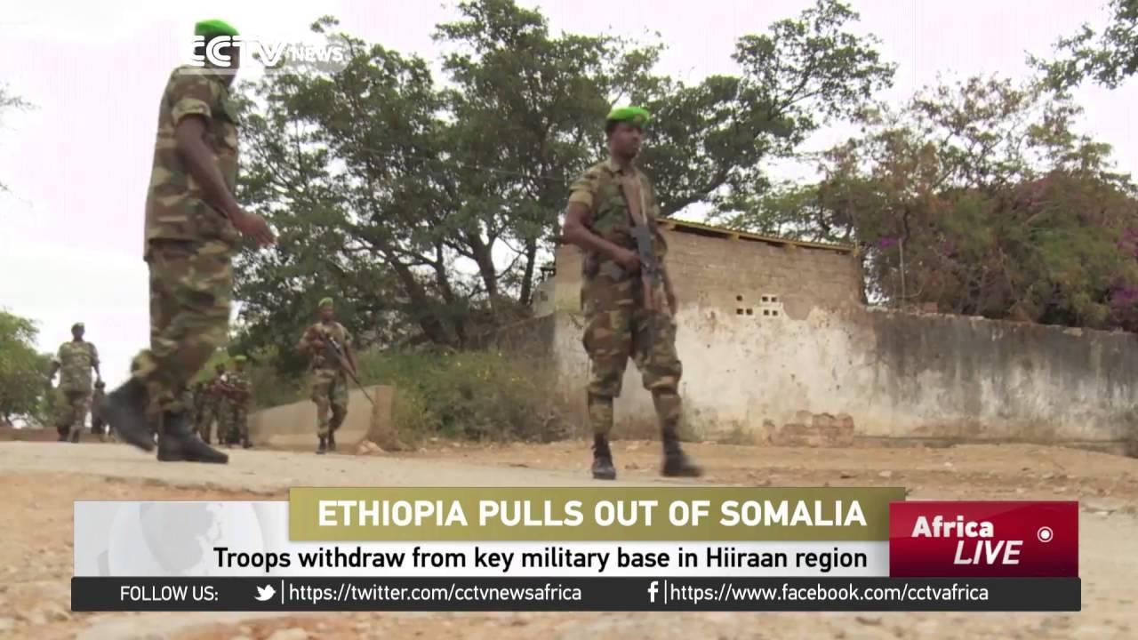 Ethiopia troops withdraw from key military base in Hiiraan region