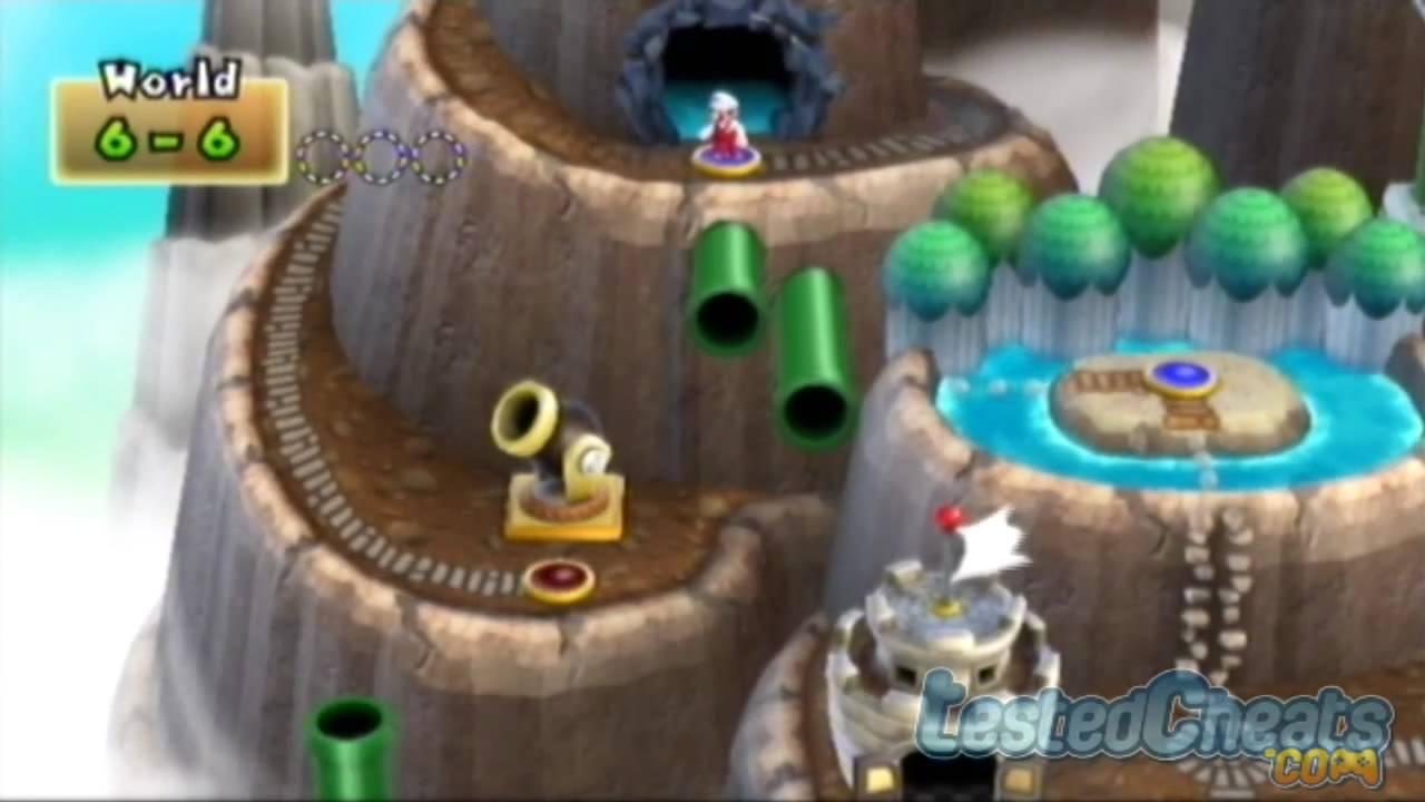 New Super Mario Bros Wii Secret Cannon To World 8 Youtube