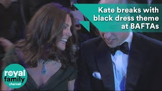 Kate breaks with black dress theme at BAFTAs