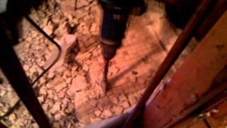 Concrete Shower Base Demolition