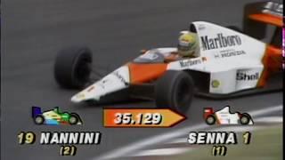 Prost v. Senna - Suzuka 1989 (50fps Broadcast Quality)