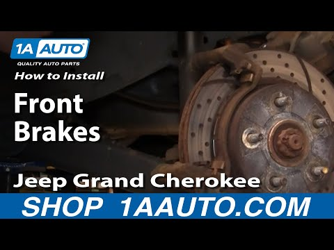 How To Install Repair Replace Front Brakes Jeep Grand Cherokee 99-04 1AAuto.com