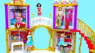 Disney Princess Building the Ever After High 2 in 1 Castle Playset Unboxing Review