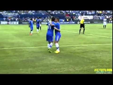 Oscar Goal: Chelsea FC vs Inter Milan (1-0) [02.08.13]