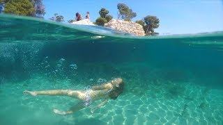 Carla Underwater - swimming in the sea underwater