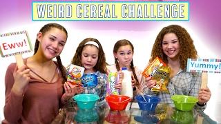 Weird Cereal Challenge! (Haschak Sisters)