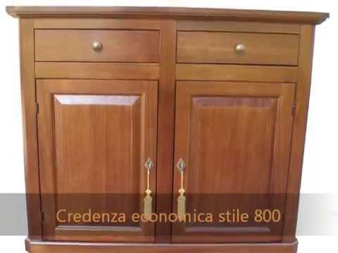 Mobili classici in arte povera economici in legno massello: scrittoio, credenze , tavoli