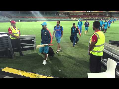 Indian cricket Team post india Pakistan match at Adelaide