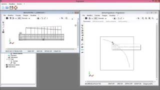 Visualizzazione del profilo e della sezione di un elemento della rete
