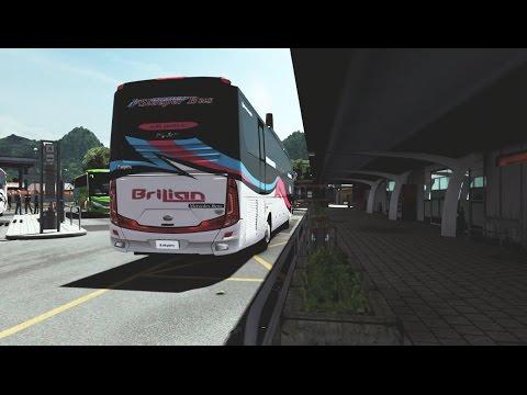 PO BRILIAN Sleeper Bus Pertama Di Indonesia | ets2 bus indonesia