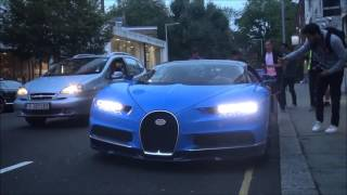 FIRST Customer Bugatti Chiron in London  Driving, Start up and Combos!