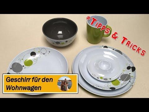 Geschirr für Wohnwagen / Wohnmobil mit Antislip