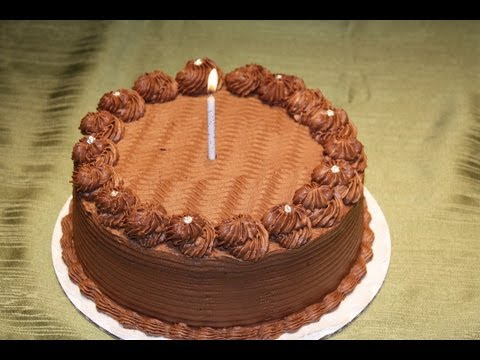 Chocolate ganache cake decoration - YouTube