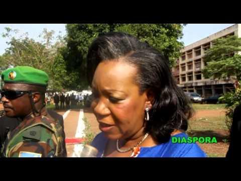 Catherine SAMBA PANZA Message 29 Mars en sango