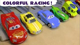 Learn Colors with Cars for kids | Lightning McQueen, Hot Wheels Superhero cars and Spongebob TT4U