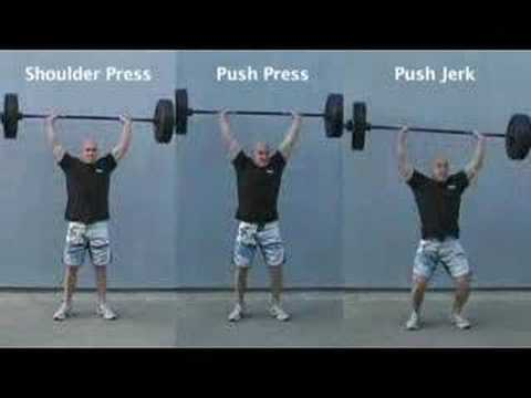 shoulder press/push press/push jerk tri-panel Image 1