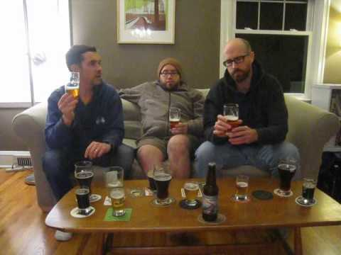 Tasting the Wet Hop Imperial Mild, and Dawson's Wet Hop Pliny clone.