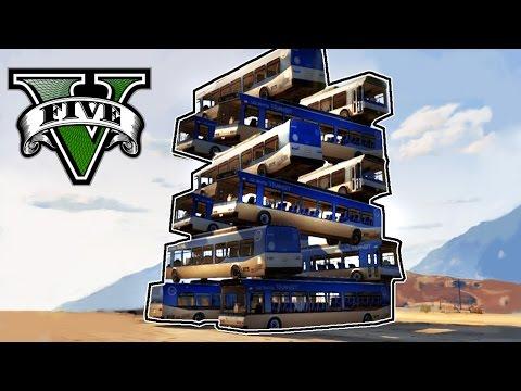 GTA V Online - TORRE DE AUTOBUSES!! + Avión Catapultador! xDDD - NexxuzHD