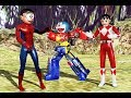 Wrong superheroes Phone Doraemon Spider Robot Megazord Rangers Finger Family Song