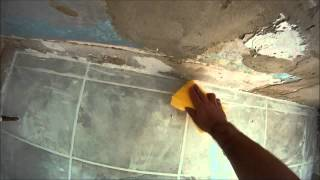 How to Grout a Tiled Bathroom Floor (HD)