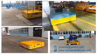 Freight Rail Car Trackless Wagon for Shopfloor Use