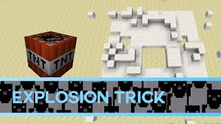 Minecraft: How to make a cool trick using explosions!