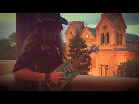 Santa Fe Sunset | 4-STRING LICENSE PLATE GUITAR