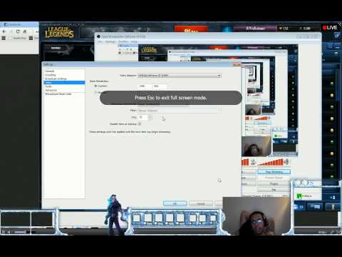 How to use OBS (Open Broadcasting Software) to stream League of Legends