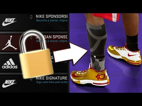 how to change shoes endorsement in mycareer 2k17