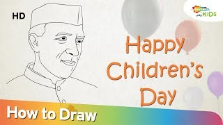 Children's Day Special | How To Draw Chacha Nehru Drawing Step by Step | Shemaroo Kids Tamil