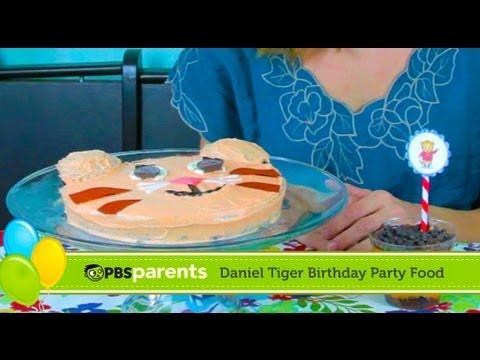 Tiger Cake And Striped Parfaits Daniel Tiger Birthday