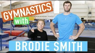 GYMNASTICS MEETS FRISBEE | Brodie Smith & Shawn Johnson