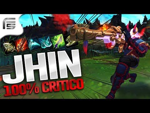 100% CRÍTICO + SEDE DE SANGUE - JHIN ADC GAMEPLAY - League of Legends - Fiv5 gameplay - [ PT-BR ]