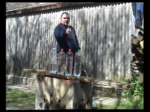 150lb Draw Weight Crossbow vs 9 bottles of water