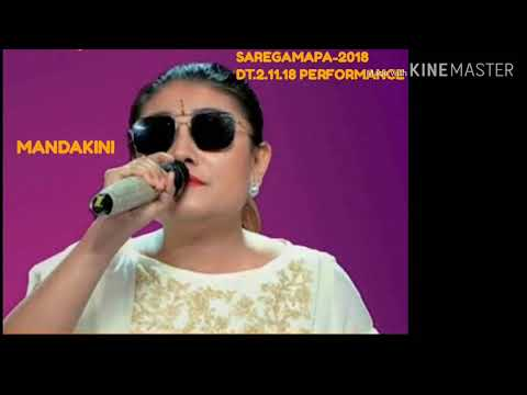 MANDAKINI performance on SAREGAMAPA 2018 sunday dt.2-11-18