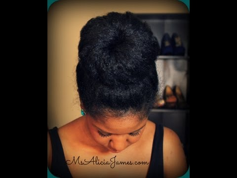 Big High Bun on Natural Hair - Natural Hairstyles